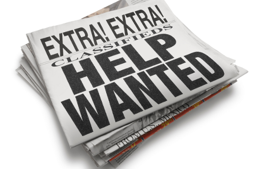 Help Wanted Newspaper