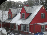 White Snowy Metal Roof