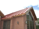 Side View of Roof Replacement